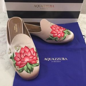 🆕 Aquazzura  Firenze Trendy Flower Mules